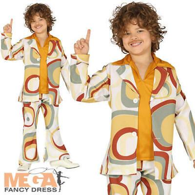 Groovy 70s Boy Kids Fancy Dress Funky Retro Disco 1970s Kids Boys Costume Outfit (Disco Boys Kostüm)