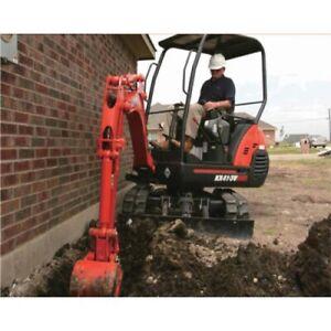 All excavations landscaping preparation $95 ph, gardening $50ph.