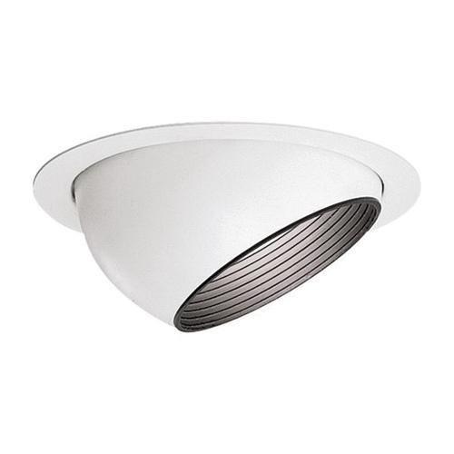 Lightolier 1182 6-3/4 Inch Adjustable Accent Eyeball Reflector Trim Round Gloss
