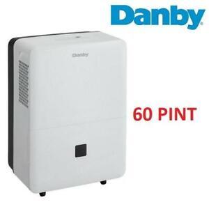NEW DANBY 60 PINT DEHUMIDIFIER DDR060BECWDB 250685452 Auto restart 2 Fan speeds High/Low