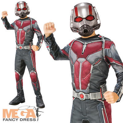 Ant-Man Boys Fancy Dress Marvel Comic Superhero Kids World Book Day Costume - Day Man Costume