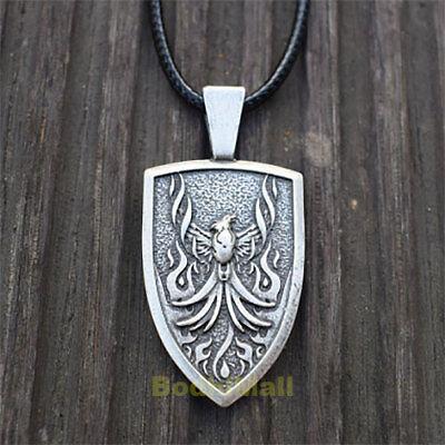 Celtic Fire Phoenix Norse Rebirth Fire-bird Pendant Necklace