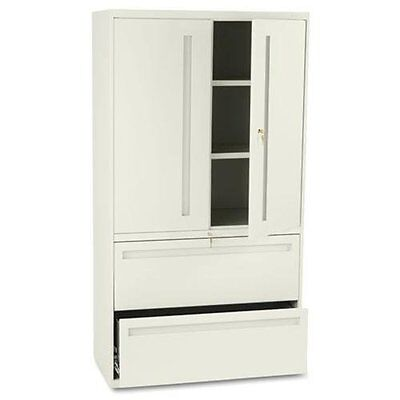 """Hon 700 Series Lateral File With Storage Case - 36"""" X 19.3"""" X 67"""" - Steel - 2 X"""