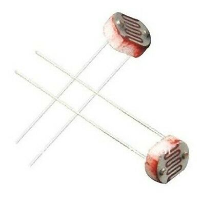 Lot Of 2 Ldr Photoresistor Light Dependent Resistor 5mm