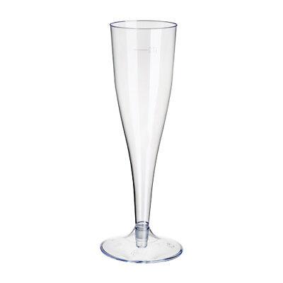 100 Einweg Sektgläser 0,1l Champagnergläser Sektkelche Sektglas mit Steckfuß