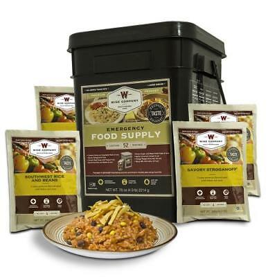 Wise Food 52 Serving MRE Emergency Prepper Pack Survival Bucket