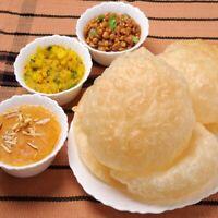 Home made Halwa Poori