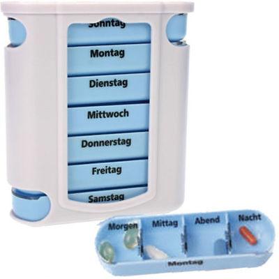 7 Tage Pillendose, Pillenbox, Tablettenbox, Tablettenaufbewahrung, Tablettendose