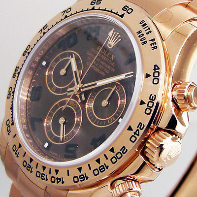 ROLEX DAYTONA 116505 PINK EVEROSE GOLD CHOCOLATE BROWN DIAL OYSTER
