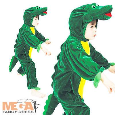 Crocodile Kids Zoo Jungle Animal Fancy Dress Child Boys Girls Costume Outfit New (Jungle Dress Up Costumes)