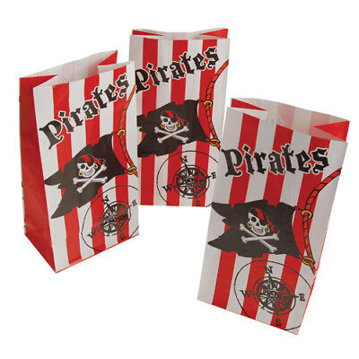 12 Pirate Skull Flag Paper Bags Kid Party Goody Loot Gift Treat Favor Supply](Skull Party Supplies)