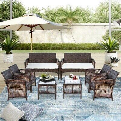 Garden Furniture - NEW Outdoor Rattan Garden Furniture Conservatory Sofa Patio Table Chair Set 2020