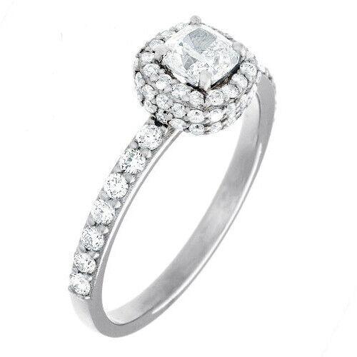 Natural GIA Certified 1.78 carat Cushion Cut Diamond Engagement Ring 14k Gold 1