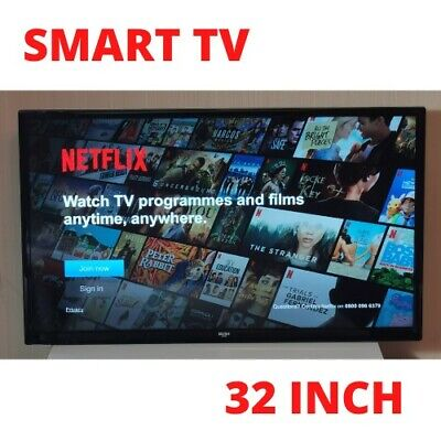 BUSH LED TV Television (No Stand / Wall Mount Included) NETFLIX Built In!