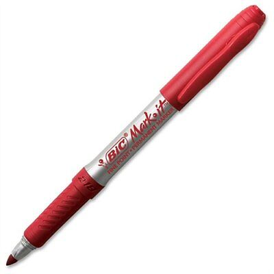Bic Mark-it Gripster Permanent Marker - Fine Marker Point Type - Red Gpm11rd