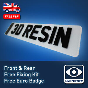 3D Domed Resin Gel UK Legal Custom Car Number Plates 20
