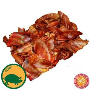 100 x BULK PIG EARS LARGE HEALTHY NATURAL PET DOG TREATS DOG CHEW Mulgrave Monash Area Preview