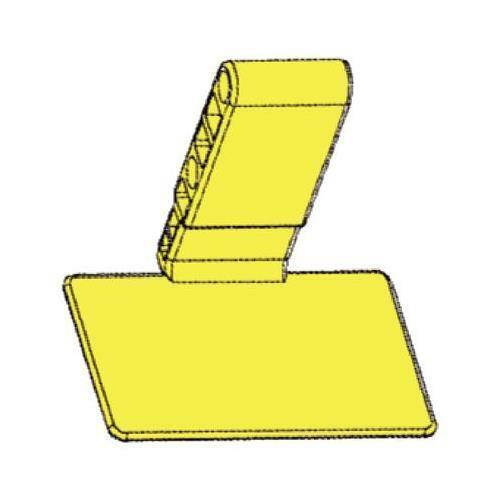 Sirona 6176528 XIOS Plus Bite Blocks with Adhesive Posterior Yellow 100/Bx