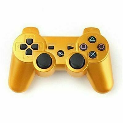 Golden Wireless Bluetooth Shock Game Pad Controller For Sony PlayStation PS3