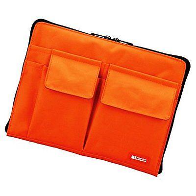 """Lihit Lab Teffa Bag in Bag - Size A5 (10"""" X 7.1"""") - Orange"""