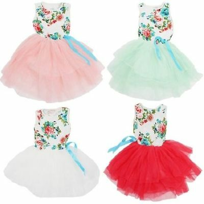 Girl's Country Party Floral Tutu Wedding Flower Girl Easter Birthday Dress - Country Girl Dress