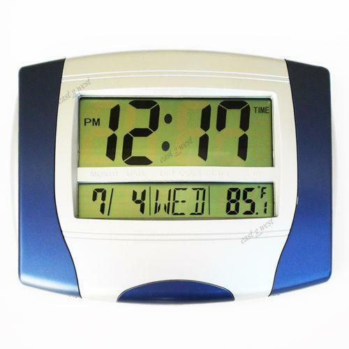 Digital Wall Clock Thermometer Ebay