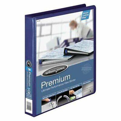 Wilson Jones Premium Single-touch Locking Round Ring View Binder 1 Inch Blue