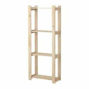 Pine Soft  Solid Wood 4 Tier  Storage Shelving Unit