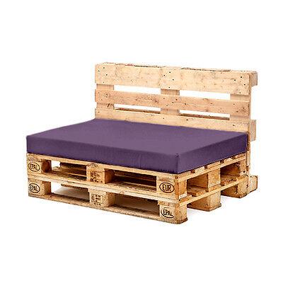 Purple Seat Cushion for Euro Pallet Garden Furniture Waterproof Outdoor Sofa UK