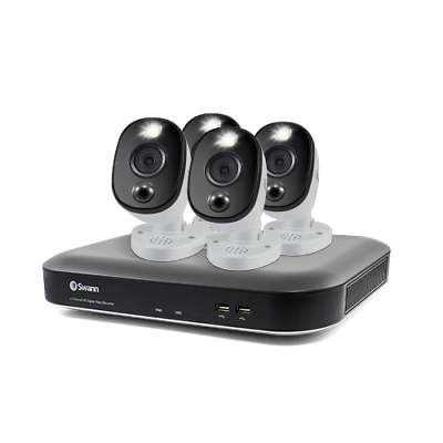 4 Camera 4 Channel 4K Ultra HD DVR Security System