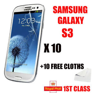 10 new film foil for Samsung i9300 Galaxy S3 III High Quality Screen protection