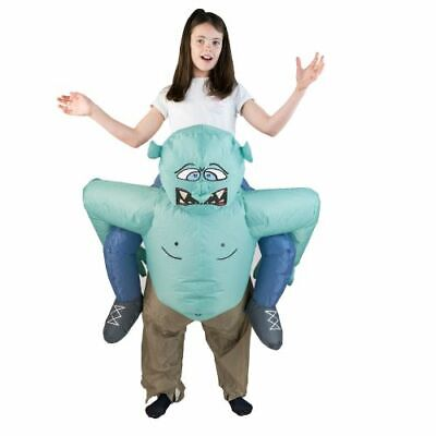 Bodysocks® Kids Boys Girls Troll Ogre Scary Lift Up Inflatable Costume Halloween