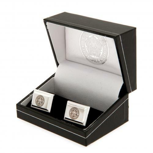 Leicester City Fc Silver Plated Cufflinks & Presentation Gift Box