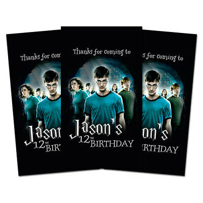 10 Harry Potter Book Movie Birthday Party Favors Personalized Thank You Tags](Movie Party)