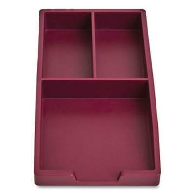 Tru Red 24380379 Stackable Plastic Accessory Tray 3-compartment 3.34 X 6.81 X