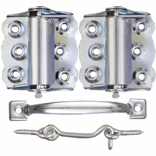 screen storm door hardware set silver hinges