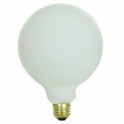 Sunlite 100G40/WH Incandescent 100-Watt, Medium Based, G40 Globe Bulb, (100w G40 Incandescent Bulb)