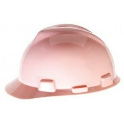 Msa 495862 V-gard Pink Slotted Cap Hard Hat With Fastrac Ratchet Suspension New