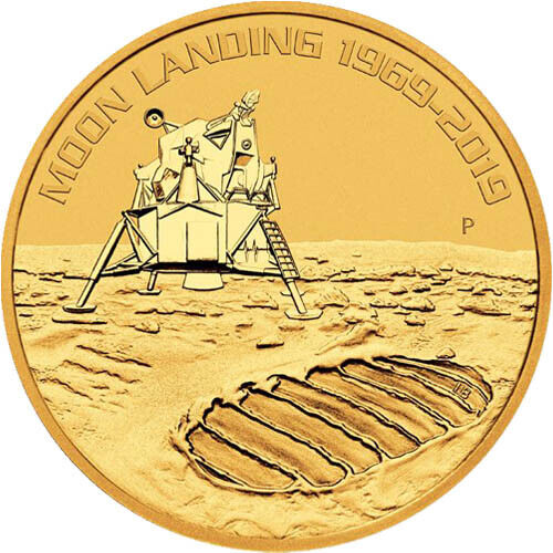 2019 1 oz Australian Anniversary of the Moon Landing Gold Coin (BU)