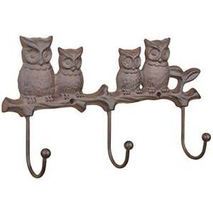 Brand New Cast Iron Indoor and Outdoor Owl Wall Hook