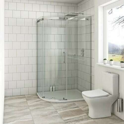 Victoria Plumb Showers >> Victoria Plumb Walk In Shower Enclosure 1200 X 800mm New Boxed