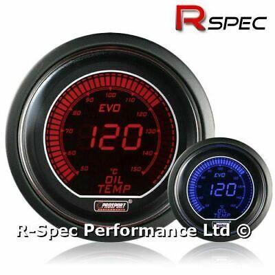GENUINE Prosport 52mm Evo Blue / Red Display LCD Digital Oil Temperature Gauge