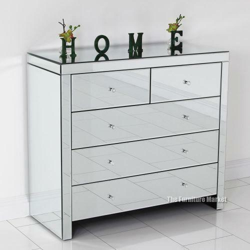 item mirrored chests b and drawers chest furniture mirror number products french drawer three hooker of consoles with