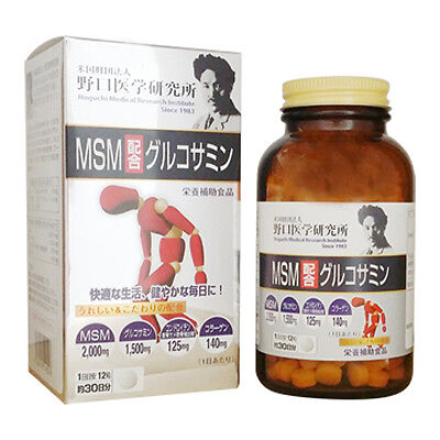Noguchi Medical Research institute MSM with Glucosamine 360 Capsules Supplement