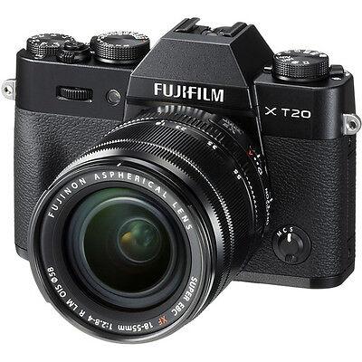 Fujifilm X-T20 Mirrorless Digital Camera with 18-55mm Lens - Swart
