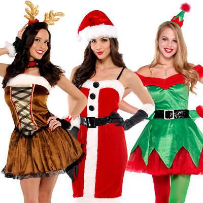 Sexy Christmas Ladies Fancy Dress Xmas Festive Winter Wonderland Womens Costumes (Winter Wonderland Fancy Dress Kostüme)