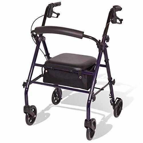 Steel Rollator Walker With Seat And Wheels - Rolling Walker