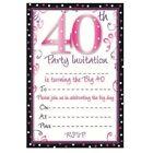 Pink Birthday Greeting Invitations