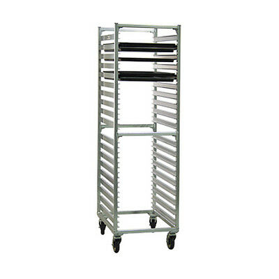 New Age 1461 Full Height Mobile Bun Pan Rack W/ (38) Pan Capacity End Loading