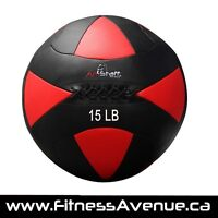 AmStaff Fitness 15lbs Commercial Wall Ball – New